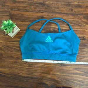 Adidas Green Mesh Sports Bra size XL